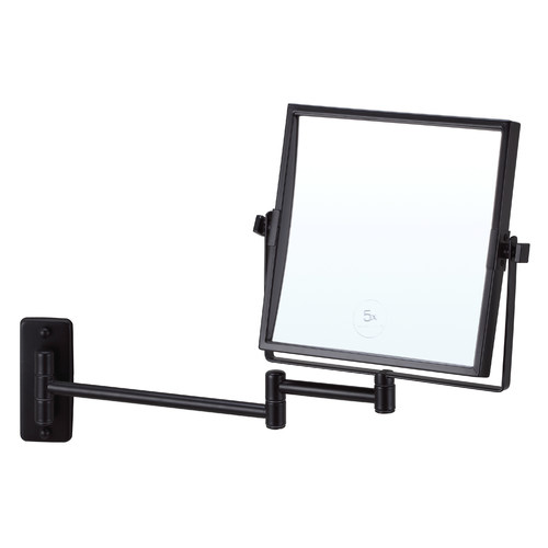 Thermogroup Matte Black Square Shaving Mirror