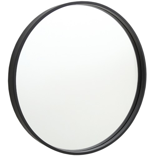 Thermogroup Round Mirror with Black Frame