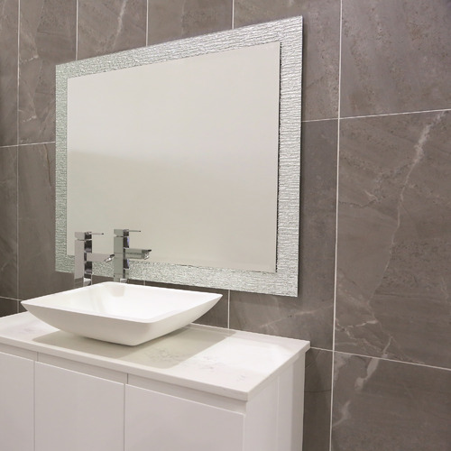 Thermogroup Silver Contractor Float Mirror with Hangers