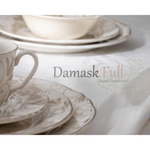 Claytan Ceramic 20 Piece Damask Full Dinnerware Set  sc 1 st  Temple \u0026 Webster & 20 Piece Damask Full Dinnerware Set | Temple \u0026 Webster