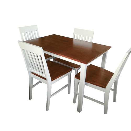 By Designs 4 Seater Deli Two Tone Dining Table U0026amp; Chair Set