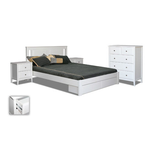 By Designs Avignon Double Bed With Storage