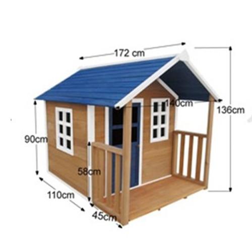Outdoor Playhouse Wooden Cubby House And Windows Verandah Temple - Cubby house