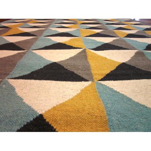 sweden yellow/blue rug   temple & webster