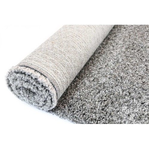 Lifestyle Floors Austin Plush Dark Grey Shaggy Rug