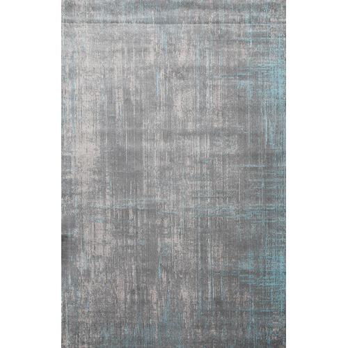 Grey Laibe Aqua Silk Rug