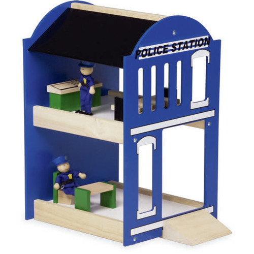 Blue Ribbon Wooden Police Station Toy