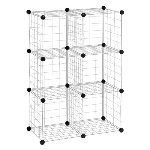 Honey Can Do 6 Pack Modular Mesh Storage Cube