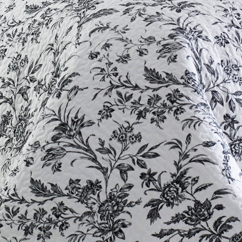 Black & White Amberley Printed Cotton Coverlet Set
