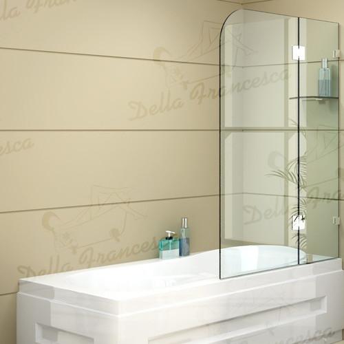 Essential Home Supply Frameless Bath Panel 1cm Glass