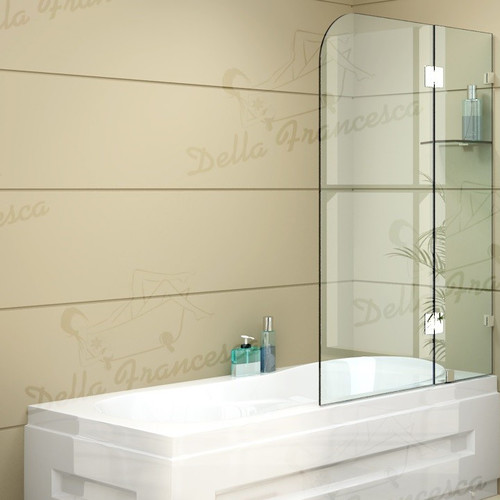 frameless bath panel glass shower screen temple amp webster waterlux white frosted 4 fold bath screen