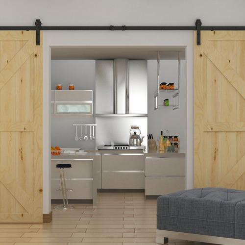 Essential Home Supply 360cm Sliding Barn Door Hardware