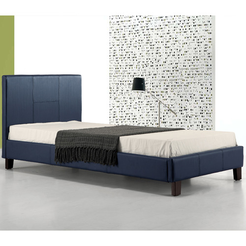 Essential Home Supply Barocca Faux Leather Single Bed Frame