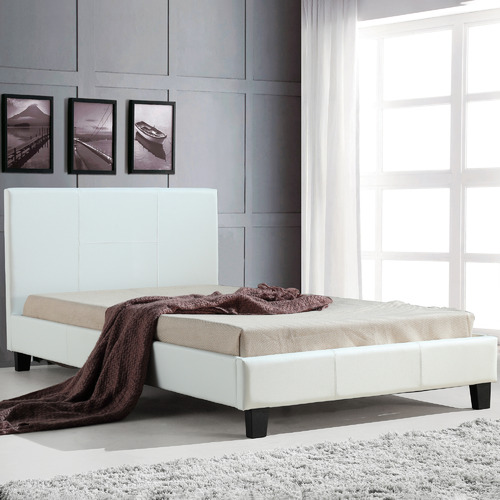 Essential Home Supply Barocca Faux Leather King Single Bed Frame