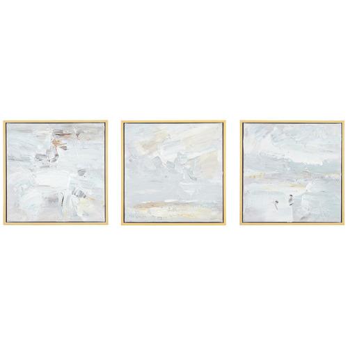 Render Framed Canvas Wall Art Triptych