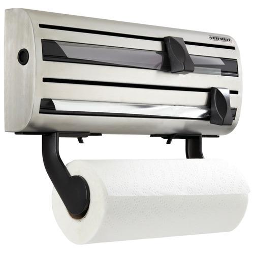 Cream Plastic Kitchen Roll Towel Holder Dispenser Wall Mounted