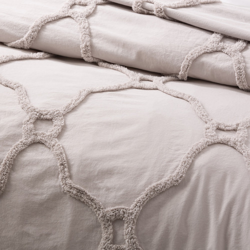 Renee Taylor Dove Moroccan Cotton Quilt Cover Set