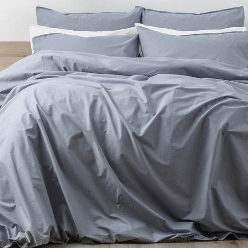 Renee Taylor Celestial Blue Lorimer Cotton Quilt Cover Set