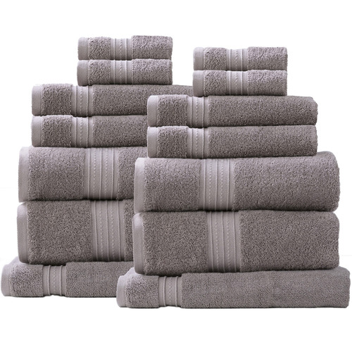 Renee Taylor 14 Piece Brentwood Cotton Bathroom Towel Set