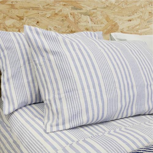 Viva Stripe Cotton Flannelette Pillowcases
