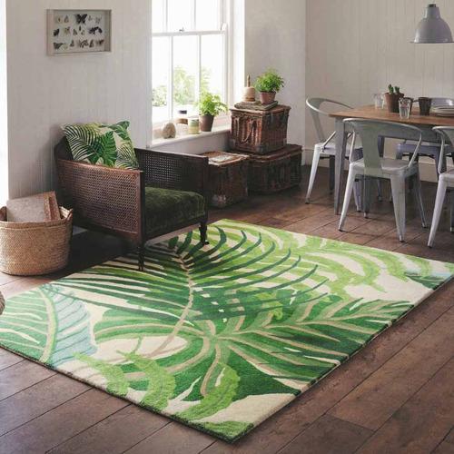 Sanderson Green Manilla Hand-Tufted Wool Rug