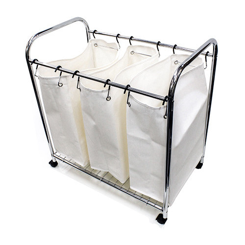 Nova Star 3 Divider Laundry Trolley Large