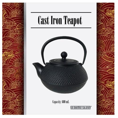 Nova Star Black Cast Iron Teapot with Infuser