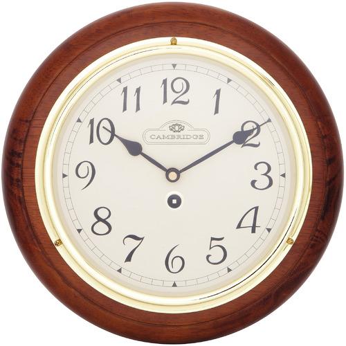 Cambridge 28.5cm Small Dark Brown Station Clock