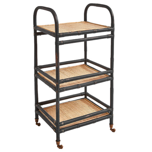 Kauai Collection Soho Rattan 3 Tier Console Stand