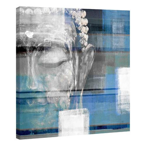 Parvez taj blue buddha canvas wall art