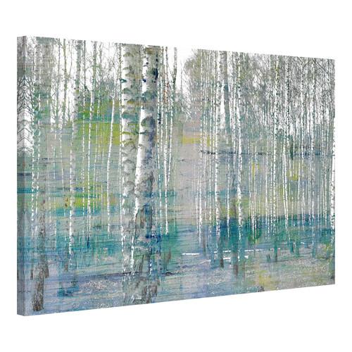 Parvez Taj Teal Tree Forest Canvas Wall Art Amp Reviews