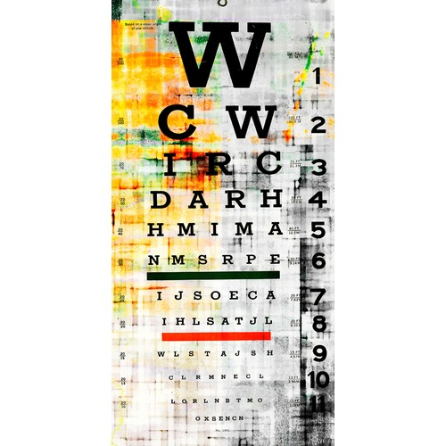 picture about Eye Chart Printable identified as Eye Chart Artwork Print upon Canvas
