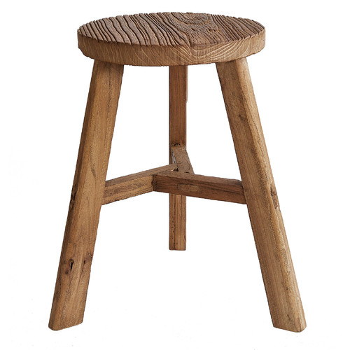 Low Round Elm Stool Temple Amp Webster