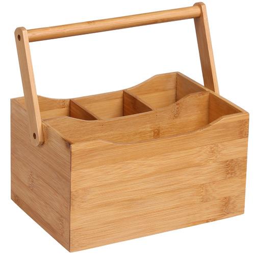 Sherwood Housewares Sherwood Bamboo Cutlery Caddy