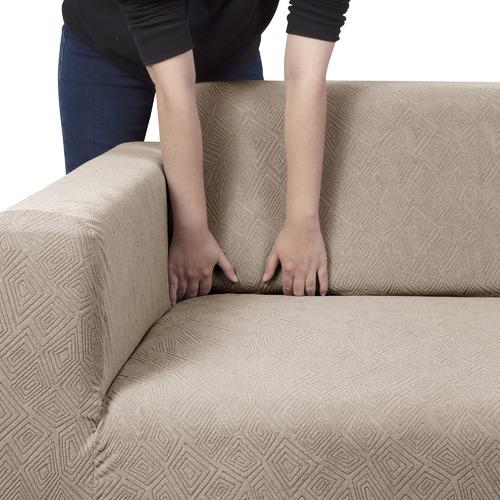 Chequered Jacquard Stretch Sofa Cover
