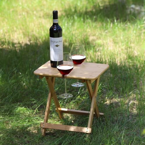 Sherwood Housewares Sherwood Foldable Bamboo Outdoor Wine Table
