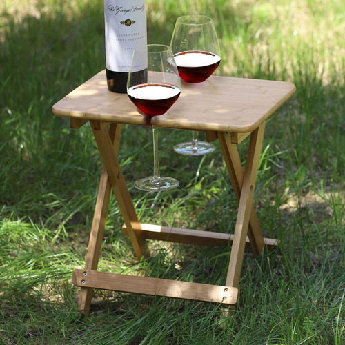 Sherwood Foldable Bamboo Outdoor Wine Table