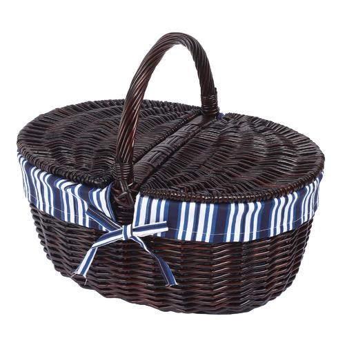 Oval Wicker Handle Basket