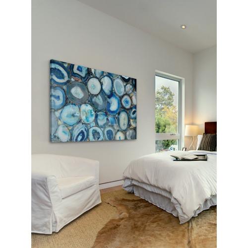 Blue Geode Bunch Canvas Wall Art Temple Amp Webster