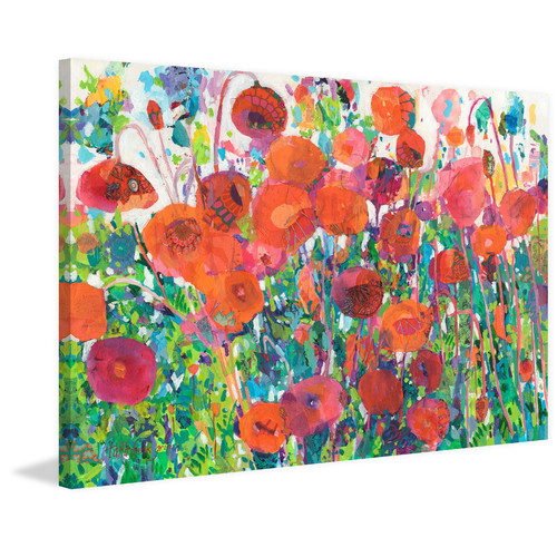 Marmont HIll Plentiful Poppies Wrapped Canvas Painting Print