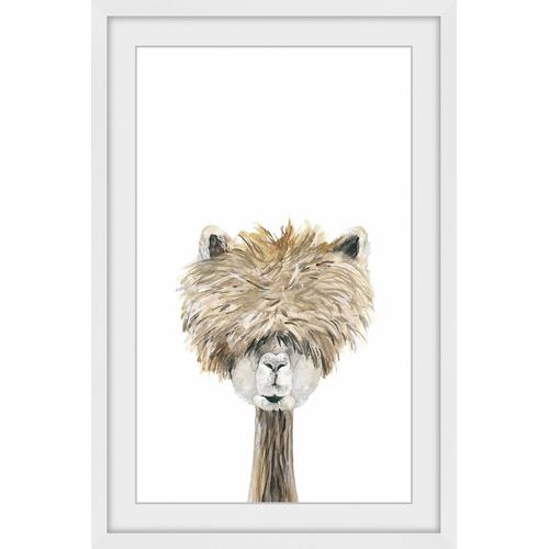 Marmont HIll Bushy Haired Llama II Framed Print