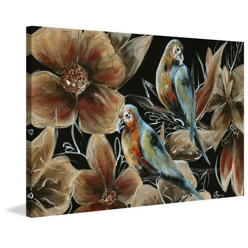Marmont HIll Bronzing Bird Couple I Canvas Wall Art
