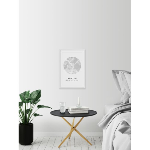 Marmont HIll Silver Boston Framed Print