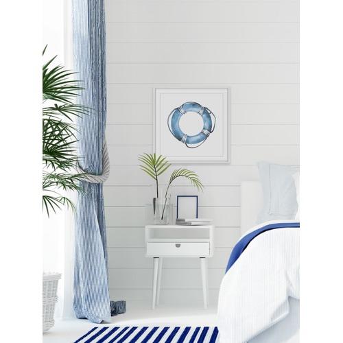 Blue Floater Framed Print