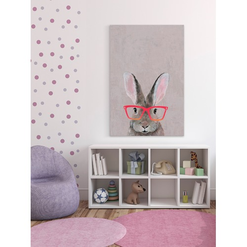 Marmont HIll Hare with Red Glasses Canvas Wall Art