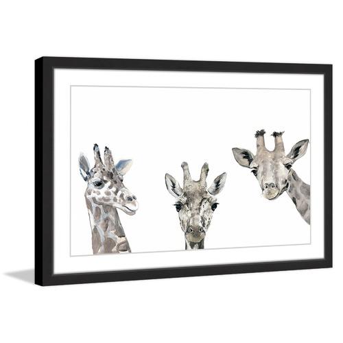 Marmont HIll Giraffe Poses Framed Print