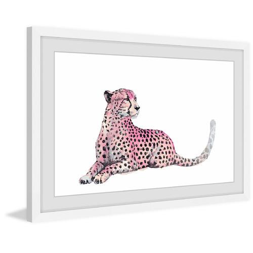 Pink Cheetah Framed Printed Wall Art