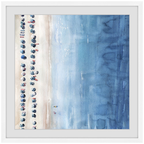 Marmont HIll Blue Sun Lounges Framed Printed Wall Art
