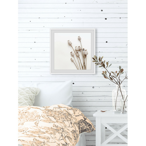 Striped Flower Framed Printed Wall Art