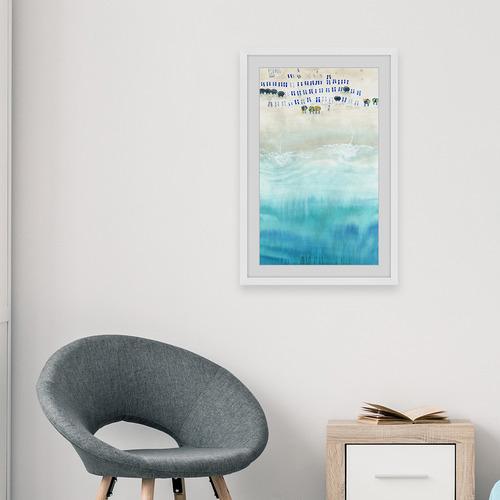 Beach Sun Beds Framed Printed Wall Art
